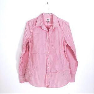 J Crew Pink Stripe Haberdashery Shirt